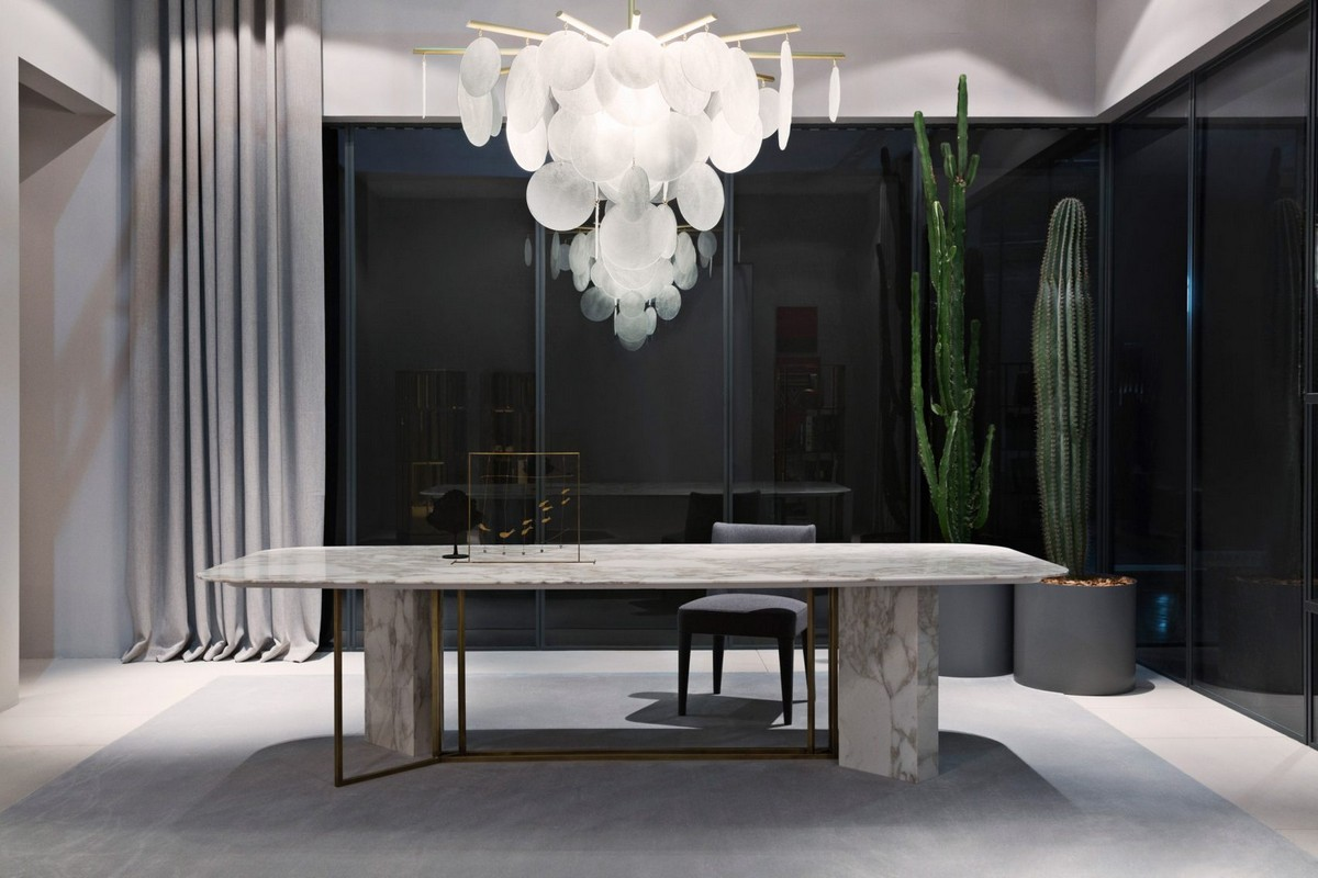 Mesmerizing Sculptural Dining Tables by Meridiani | The well known Italian brand Meridiani, has created an incredible collection. #diningtables #diningroom #homeinteriors  Mesmerizing Sculptural Dining Tables by Meridiani Mesmerizing Sculptural Dining Tables by Meridiani 1