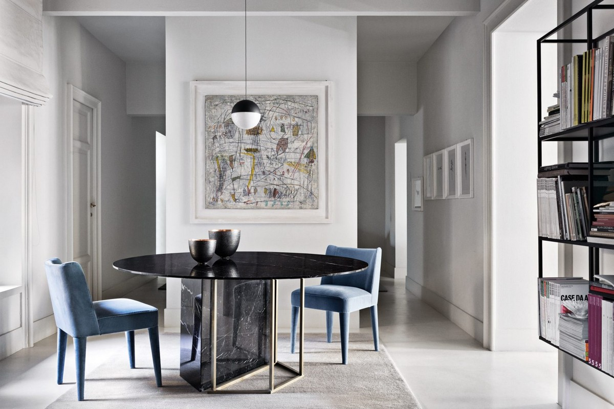 Mesmerizing Sculptural Dining Tables by Meridiani | The well known Italian brand Meridiani, has created an incredible collection. #diningtables #diningroom #homeinteriors  Mesmerizing Sculptural Dining Tables by Meridiani Mesmerizing Sculptural Dining Tables by Meridiani 6