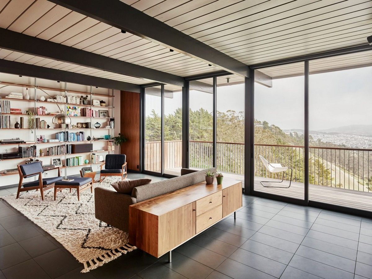 San Francisco Home Gets a Mid-Century Look by Michael Hennessey | A 1960s home in California built by Joseph Eichler, the father of America's modernist housing. #interiordesign #homedesign #midcentury #homedecor #modernhome  San Francisco Home Gets a Mid-Century Look by Michael Hennessey diamond heights 1956 eichler home michael hennessey architecture san francisco california usa renovation dezeen 2364 col 2 1704x1280