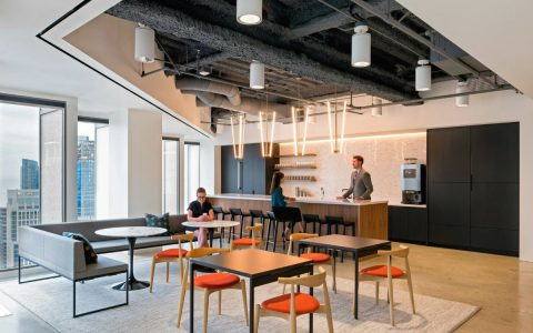 """San Francisco Finance Office Gets a Traditional and Contemporary Look   Studio O+A, an American design firm created an office in San Francisco that communicates """"news ways of thinking and working"""". #interiordesign #homedecor #designfirm #diningtables #officedesign"""