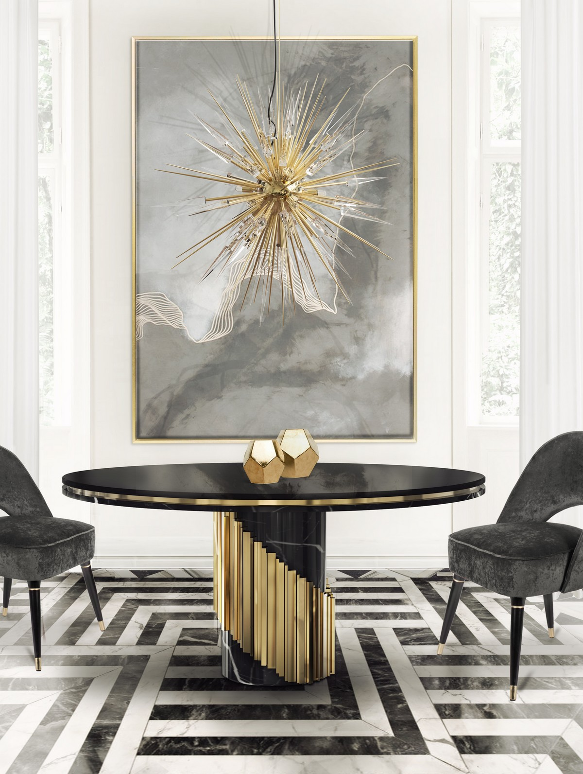 LUXURY DÉCOR IDEAS FOR THE LIVING ROOM  Luxury Décor Ideas for the Living Room littus dining table cover 01