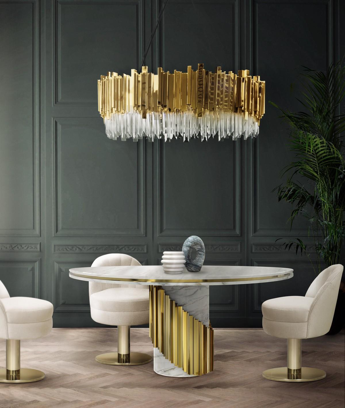 LUXURY DÉCOR IDEAS FOR THE LIVING ROOM  Luxury Décor Ideas for the Living Room littus diningtable