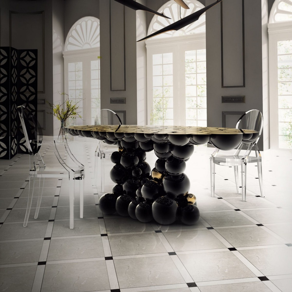 Artistic Dining Table Ideas For An Exquisite Dining Room Decor dining table ideas Artistic Dining Table Ideas For An Exquisite Dining Room Decor newton