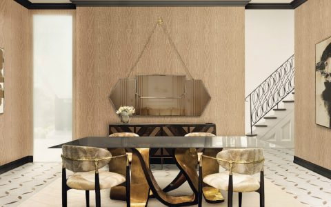 Top Golden Dining Tables For Your Dining Room