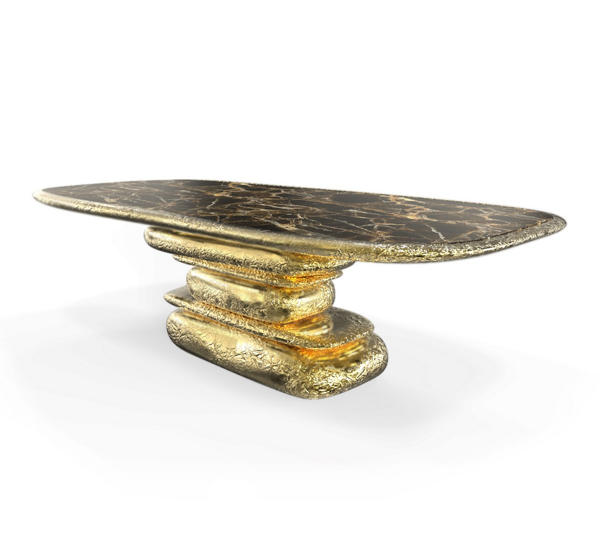Top Golden Dining Tables For Your Dining Room [object object] Exquisite Dining Tables To Level Up Your Home Decor stonehenge
