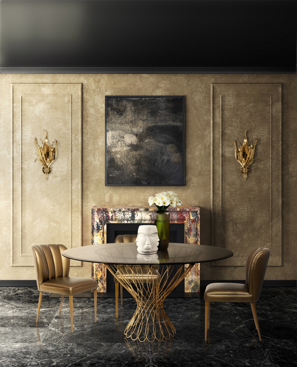 Curated Design: Contemporary Dining Room Ambiances contemporary dining room Curated Design: Contemporary Dining Room Ambiances 2 4