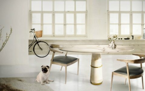 Agra Dining Table: Exclusive Dining Room Decor at Covet NYC