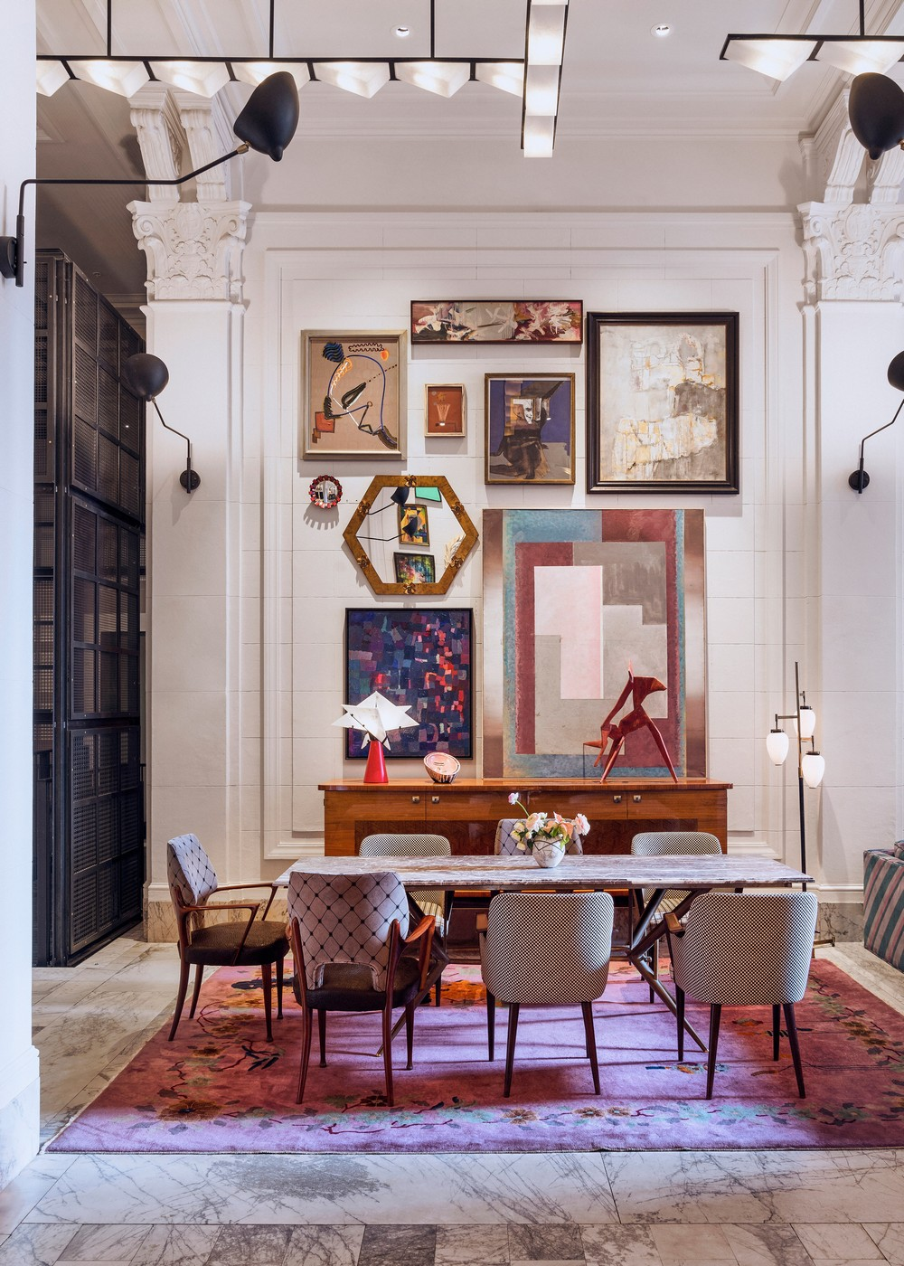 top interior designers Shop The Look: Dining Room Ideas By Top Interior Designers kelly wearstler Dezeen