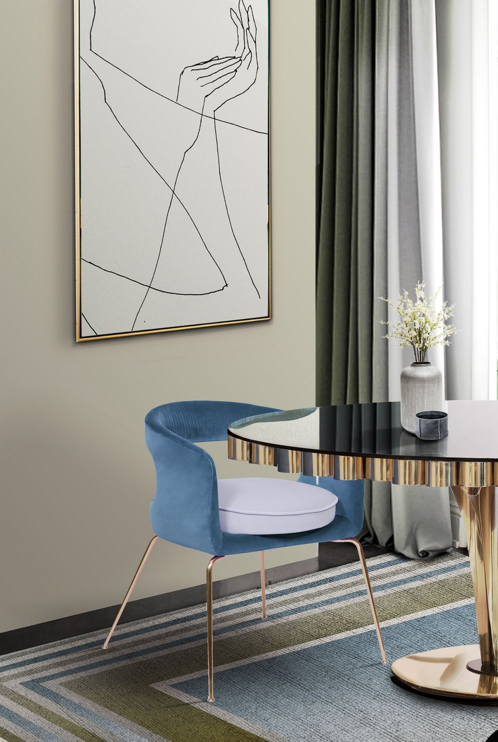 5 Beautiful Dining Chairs To Give A Splash of Color In Your Dining Room dining chairs Beautiful Dining Chairs To Give A Splash of Color In Your Dining Room Zy95aVtg