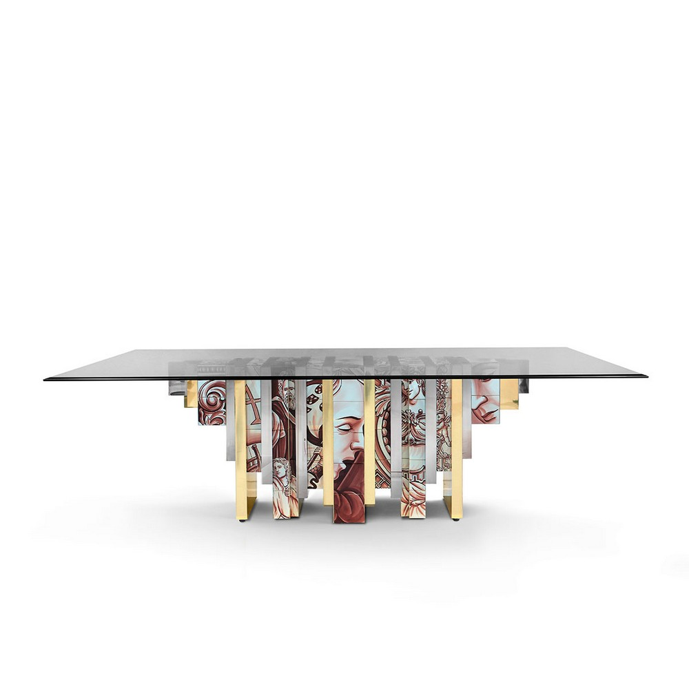 Luxury Dining Tables Inspired by History luxury dining tables Luxury Dining Tables Inspired by History bocadolobo heritage table imagem principal 2