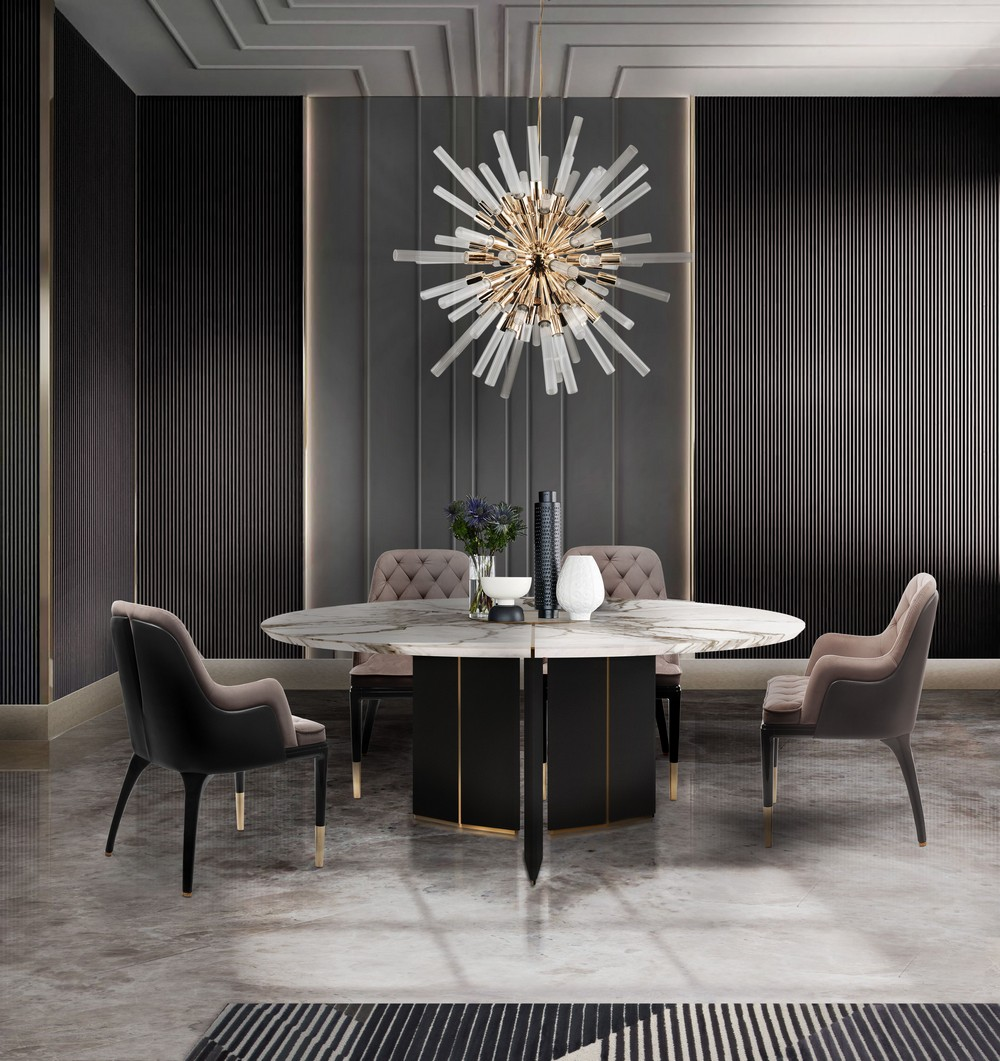 Take a Walk on The Dark Side: The Glamour of Black Luxury Dining Rooms luxury dining rooms Take a Walk on The Dark Side: The Glamour of Black Luxury Dining Rooms 1 OThlLw