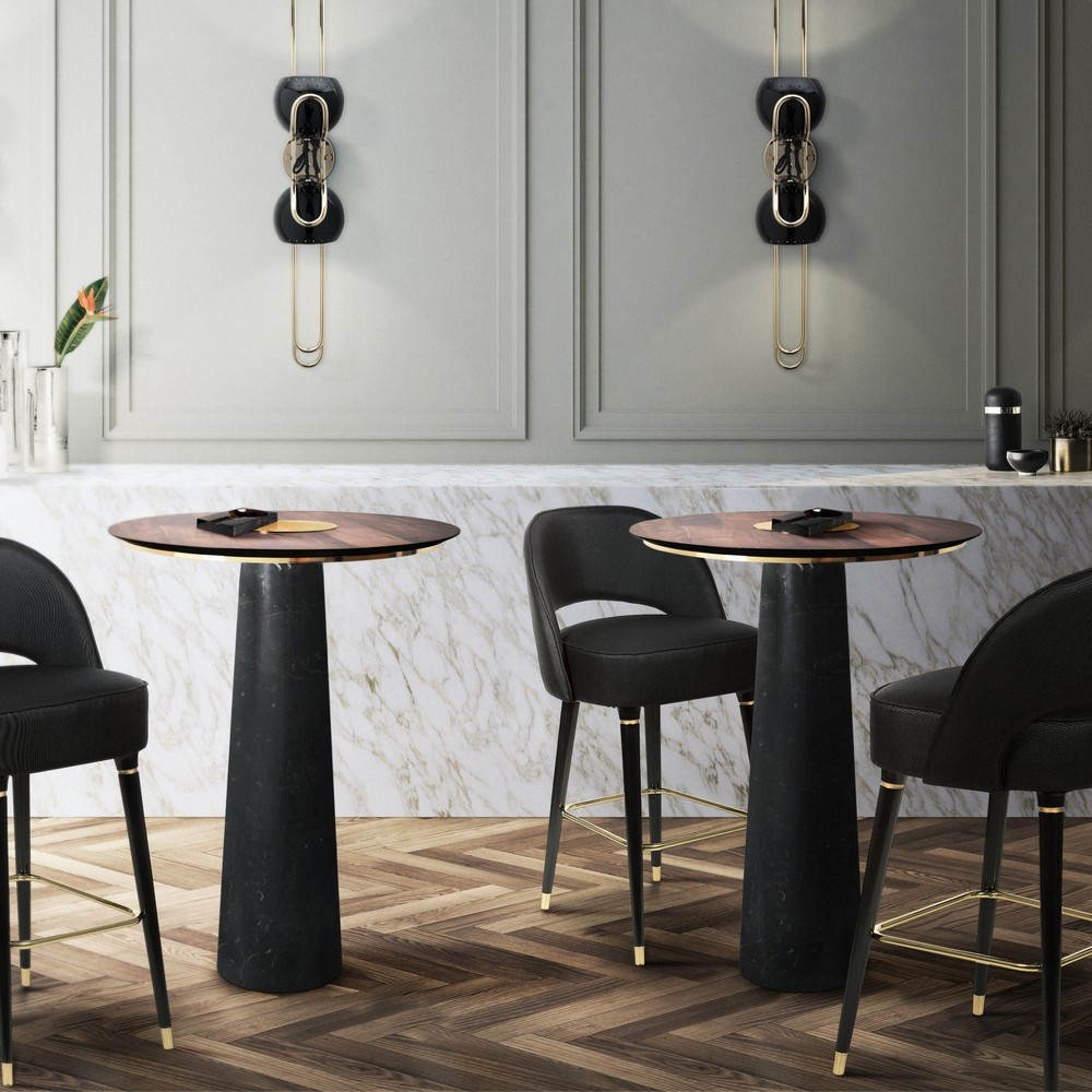 Take a Walk on The Dark Side: The Glamour of Black Luxury Dining Rooms luxury dining rooms Take a Walk on The Dark Side: The Glamour of Black Luxury Dining Rooms Bertoia BarTable EssentialHome 4