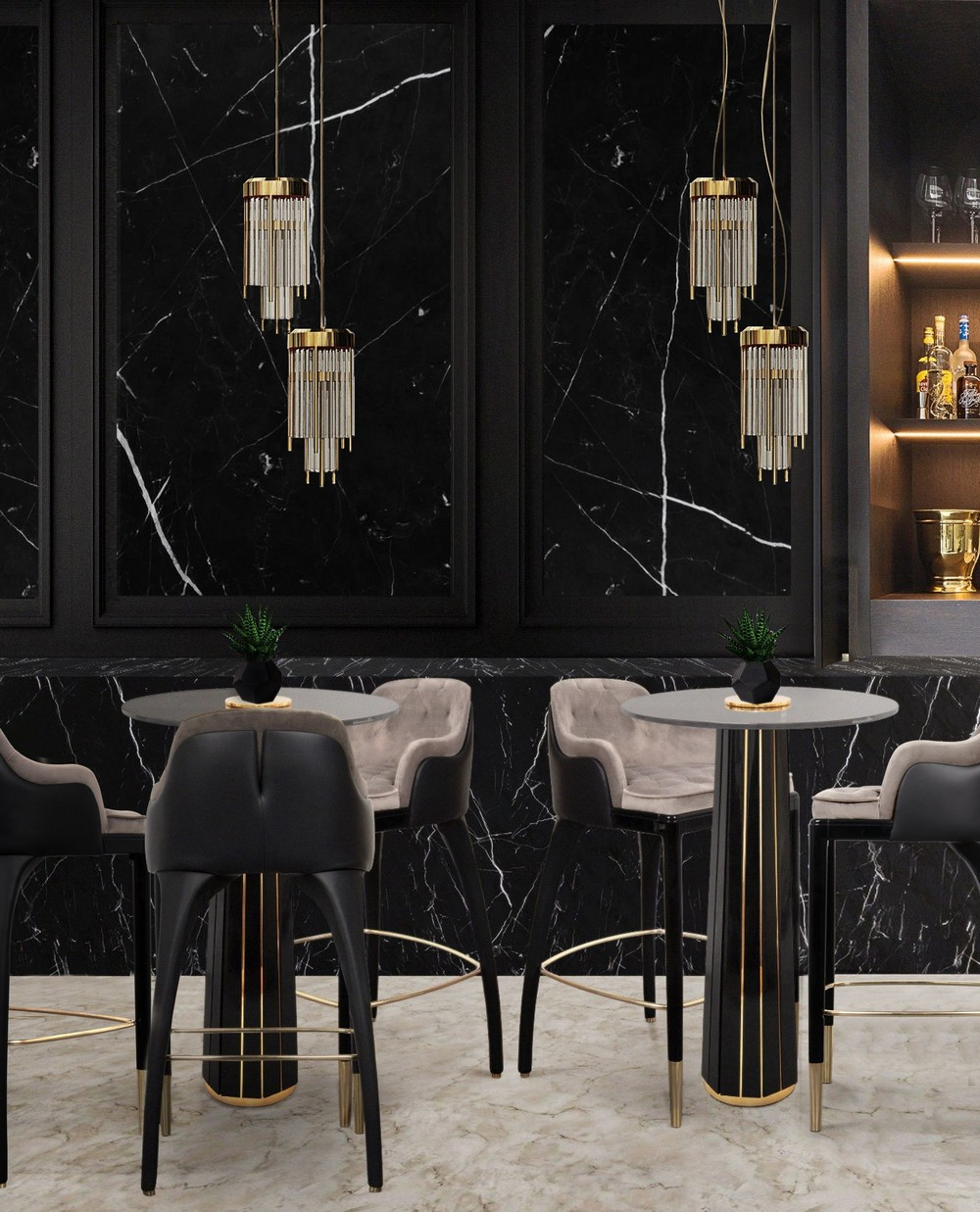 luxury dining rooms Take a Walk on The Dark Side: The Glamour of Black Luxury Dining Rooms PwWsFbCc