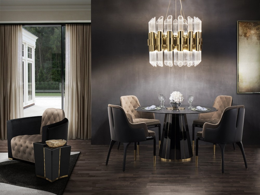Take a Walk on The Dark Side: The Glamour of Black Luxury Dining Rooms luxury dining rooms Take a Walk on The Dark Side: The Glamour of Black Luxury Dining Rooms darian dining table cover 02 org