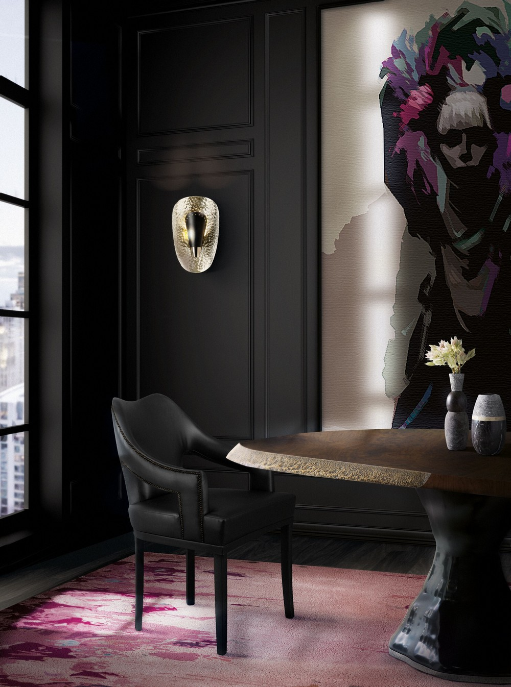 Take a Walk on The Dark Side: The Glamour of Black Luxury Dining Rooms luxury dining rooms Take a Walk on The Dark Side: The Glamour of Black Luxury Dining Rooms f D0R5YA