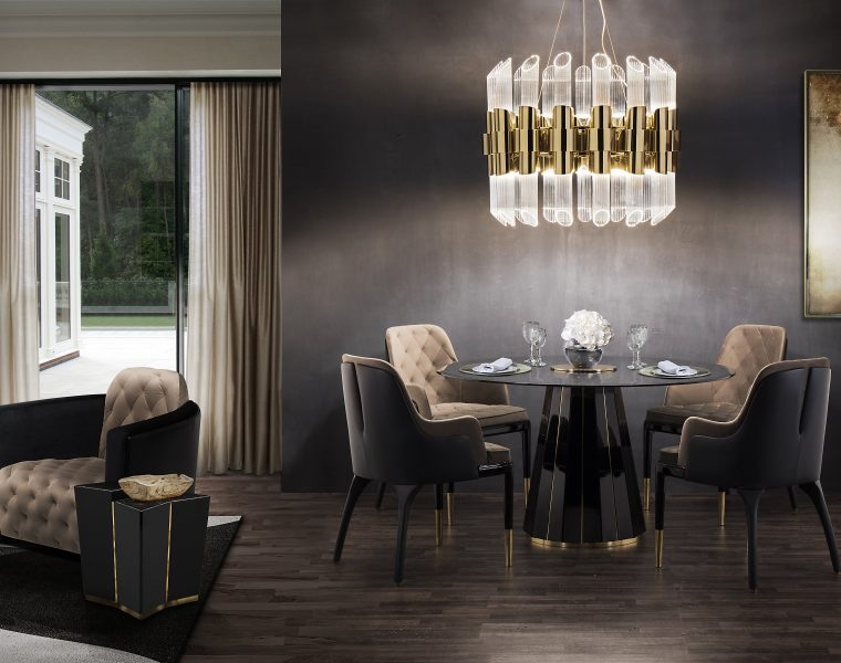 Take a Walk on The Dark Side: The Glamour of Black Luxury Dining Rooms luxury dining rooms Take a Walk on The Dark Side: The Glamour of Black Luxury Dining Rooms featured 760x600 dining tables About featured 760x600