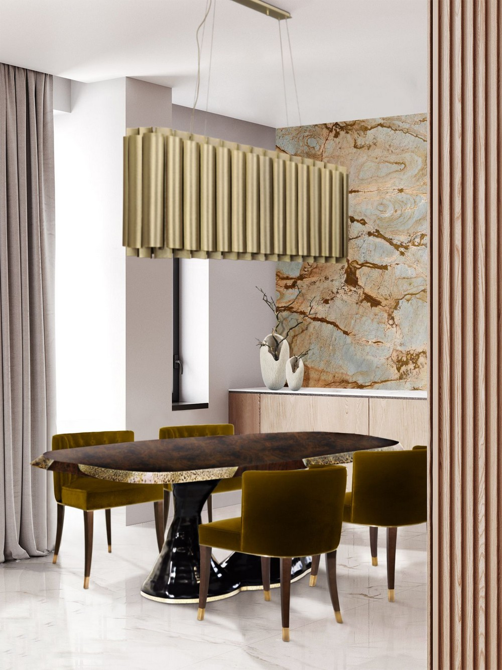 Design That's Barely There: Dining Room Ideas With Nude Tones dining room ideas Design That's Barely There: Dining Room Ideas With Nude Tones VNJ8Koaw