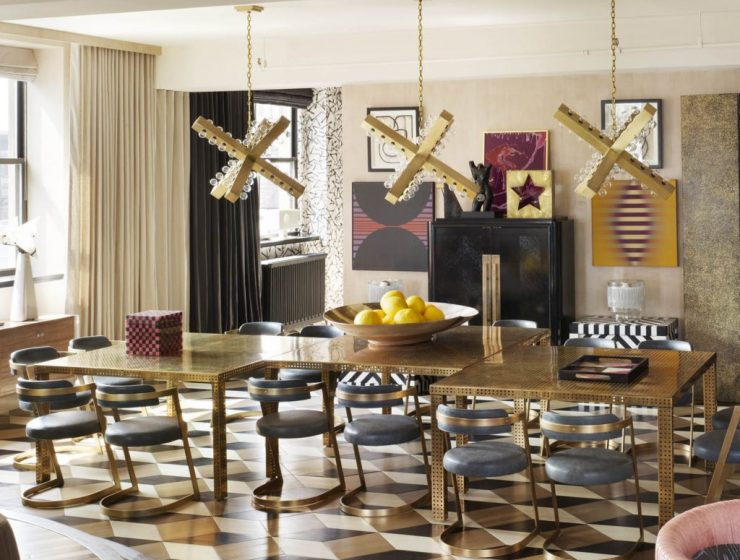 Kelly Wearstler's Most Ambitious Dining Room Projects kelly wearstler Kelly Wearstler's Most Ambitious Dining Room Projects featured 740x560 dining tables & chairs Home page featured 740x560