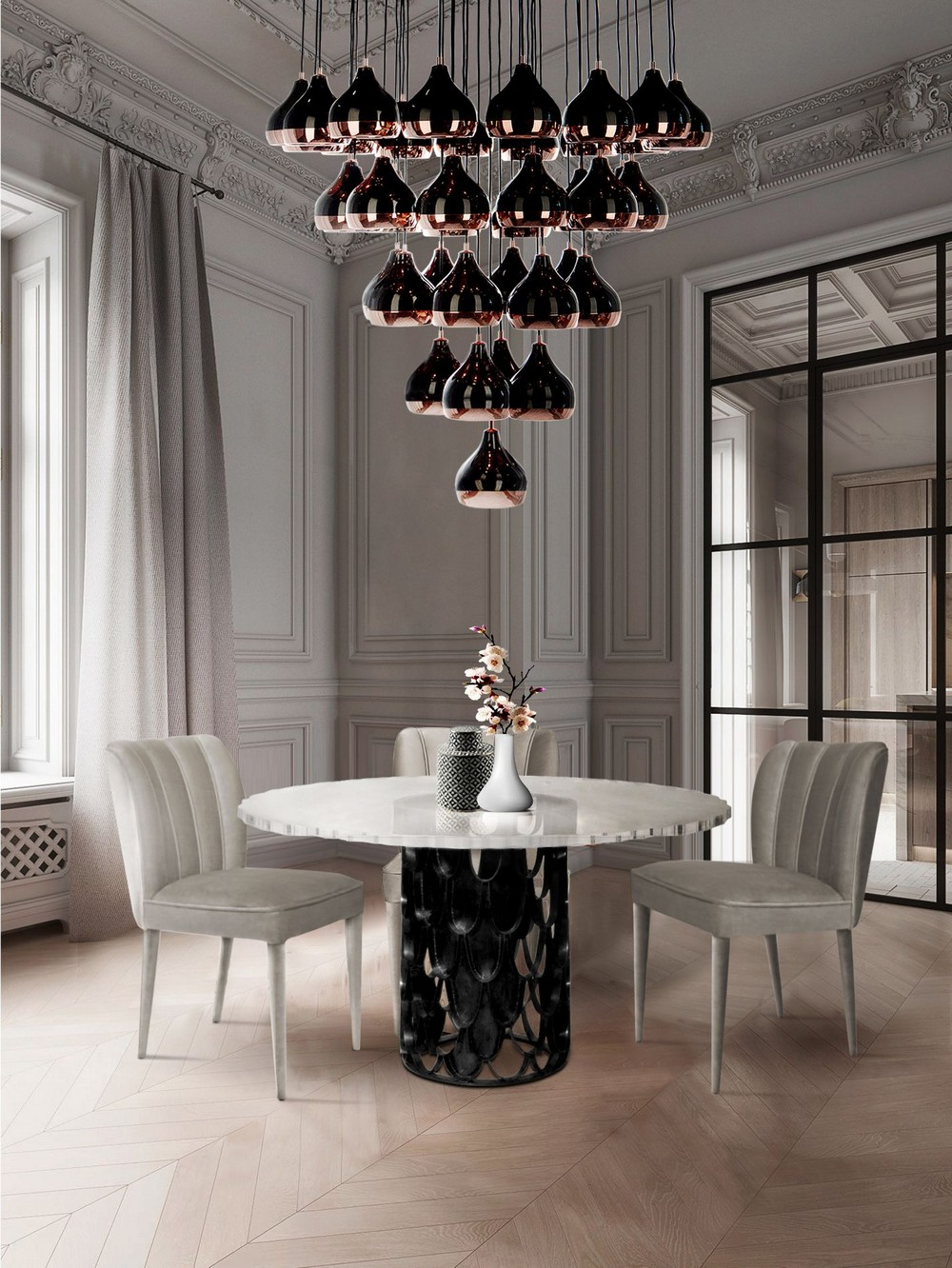 The Top 6 Trending Dining Room Ideas dining room ideas The Top 6 Trending Dining Room Ideas a tocuh of black