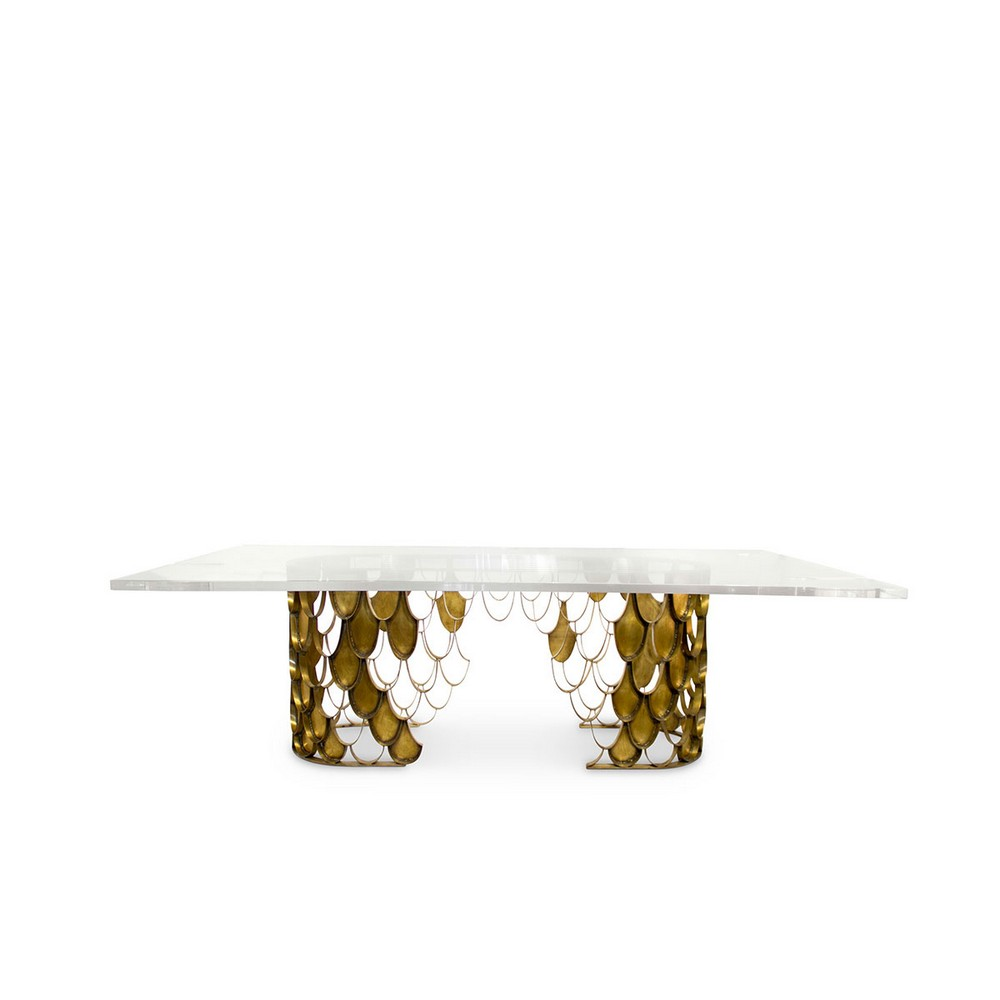 Voguish and Unexpected: Contemporary Dining Rooms You Will Love contemporary dining rooms Voguish and Unexpected: Contemporary Dining Rooms You Will Love koi II dining table brabbu 01 1