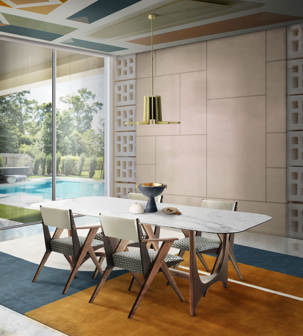 7 Rules For A Mid-century Dining Room With A Contemporary Twist mid-century dining room 7 Rules For A Mid-century Dining Room With A Contemporary Twist bring the playfulness all around with peculiar furniture and lighting