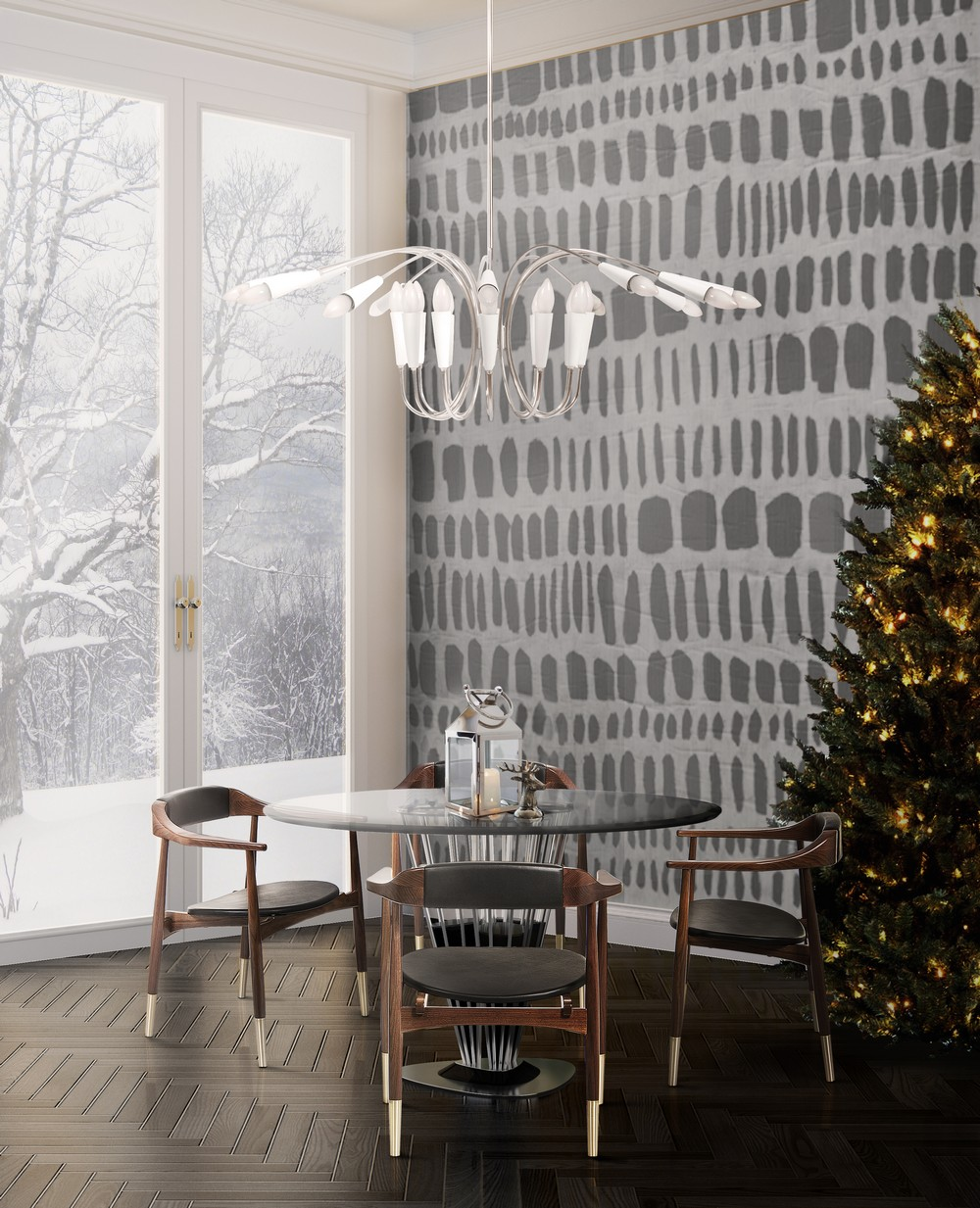 Christmas Is Here: Dining Room Ideas For An Unforgettable Celebration dining room ideas Christmas Is Here: Dining Room Ideas For An Unforgettable Celebration aretha chandelier ambience 02 christmas HR