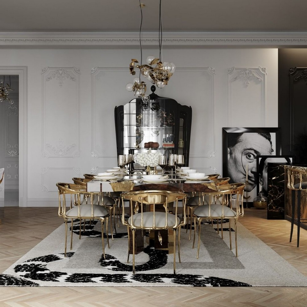luxury dining room Get The Look Of This Luxury Dining Room Inside A Parisian Penthouse 146309162 742624636669291 8458737922434881943 n