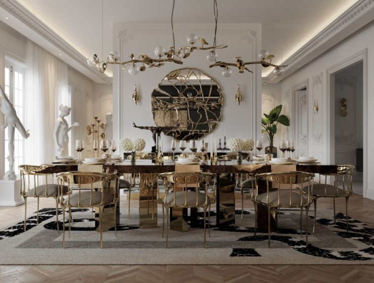 Get The Look Of This Luxury Dining Room Inside A Parisian Penthouse