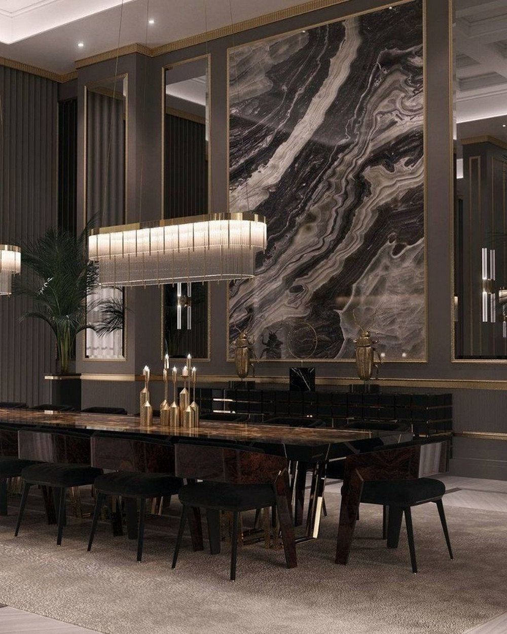 How To Use Black To Create A Thrilling Luxury Dining Room luxury dining room How To Use Black To Create A Thrilling Luxury Dining Room 147159338 266677618392080 6821030353506693724 n