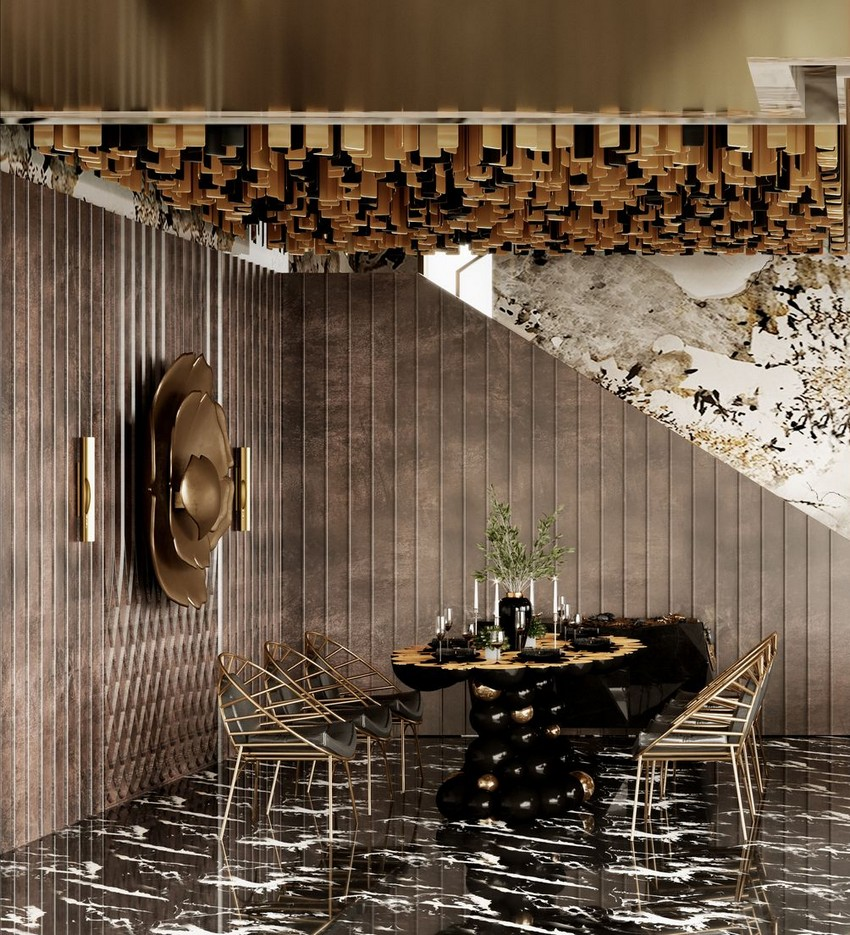 eclectic dining room Have A Look At This Eclectic Dining Room Inside An Hong Kong Townhouse N UYxneg