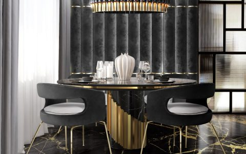 How To Use Black To Create A Thrilling Luxury Dining Room luxury dining room How To Use Black To Create A Thrilling Luxury Dining Room feat 84 480x300