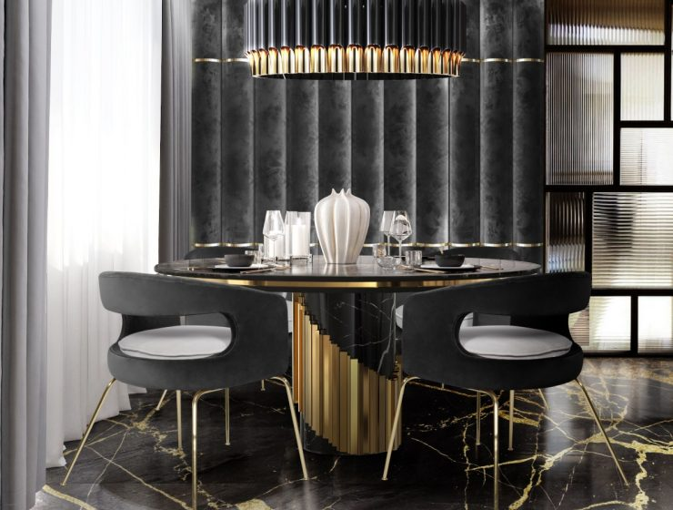 How To Use Black To Create A Thrilling Luxury Dining Room luxury dining room How To Use Black To Create A Thrilling Luxury Dining Room feat 84 740x560