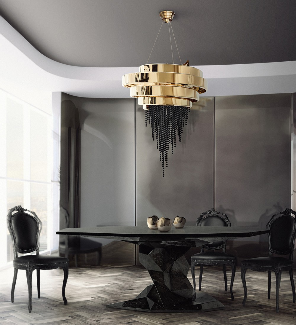 How To Use Black To Create A Thrilling Luxury Dining Room luxury dining room How To Use Black To Create A Thrilling Luxury Dining Room kassavelloshop bonsai dining tablea