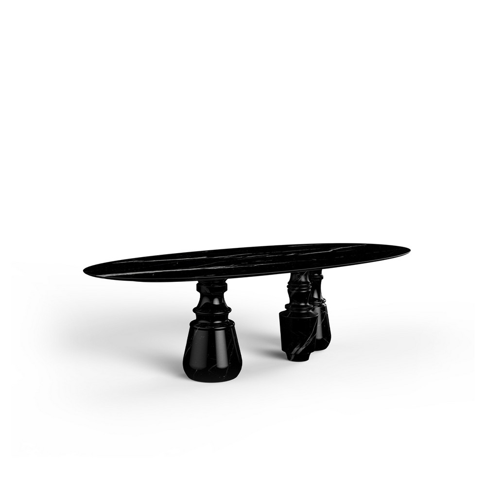 How To Use Black To Create A Thrilling Luxury Dining Room luxury dining room How To Use Black To Create A Thrilling Luxury Dining Room pietra oval xl nero 01 HR