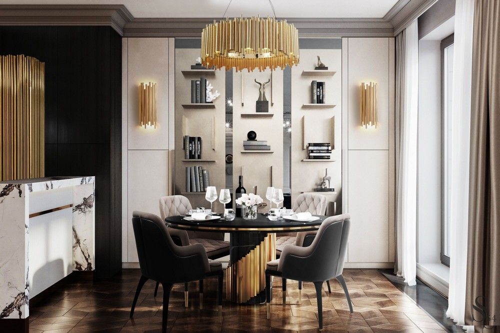How To Use Black To Create A Thrilling Luxury Dining Room luxury dining room How To Use Black To Create A Thrilling Luxury Dining Room u18hMKjg