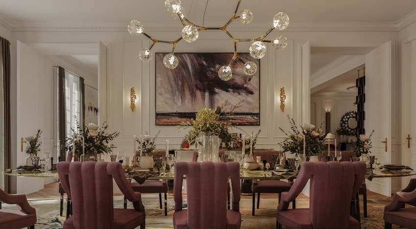 Blending Classic And Contemporary Design In This Parisian Dining Room contemporary design Blending Classic And Contemporary Design In This Parisian Dining Room BME7TzTA