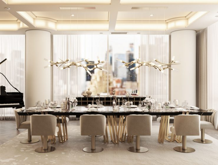Modern Apartment In NYC: A Neutral Take On Luxury Dining Rooms luxury dining rooms Modern Apartment In NYC: A Neutral Take On Luxury Dining Rooms feat 2021 06 21T115920