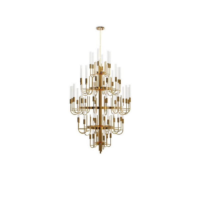 peter dunham Restraint With A Kick: Interior Design Projects by Peter Dunham gala chandelier luxxu 01