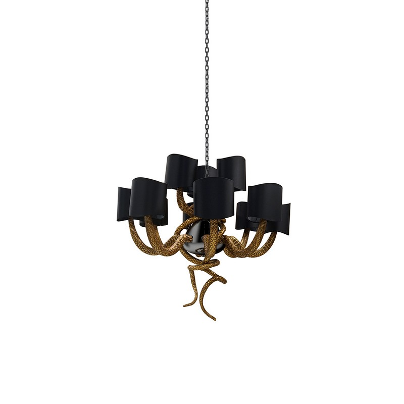 richard keith langham Richard Keith Langham: Lush Color, Pattern and A Mix of Old and New serpentine chandelier koket 01