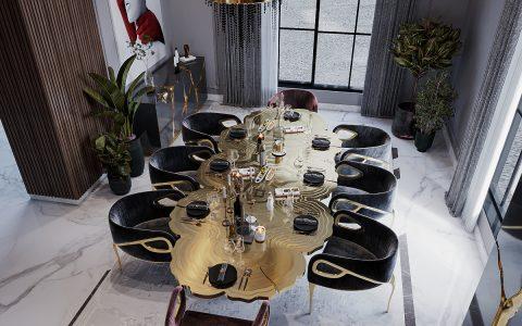 An Opulent Modern Classic Dining Room In Riyadh riyadh An Opulent Modern Classic Dining Room In Riyadh feat 2021 07 05T171538