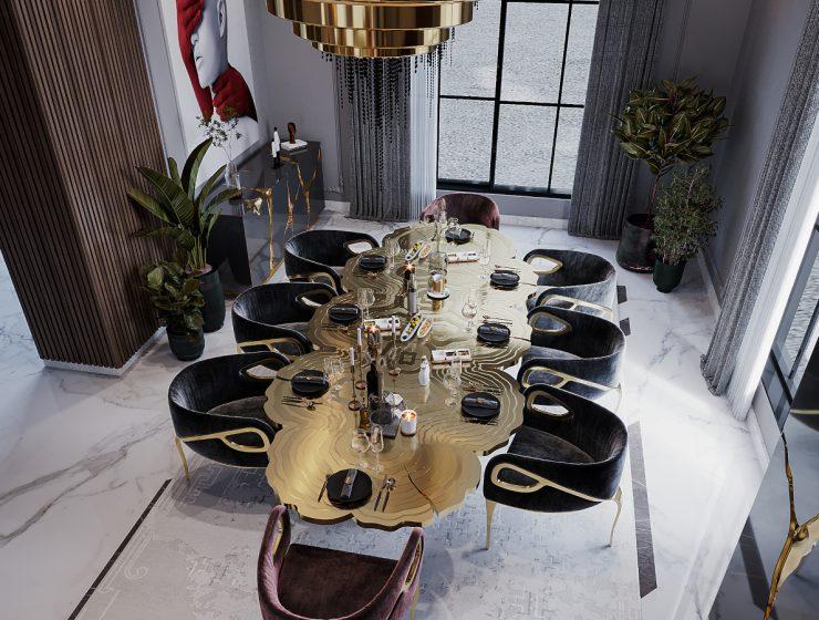 An Opulent Modern Classic Dining Room In Riyadh