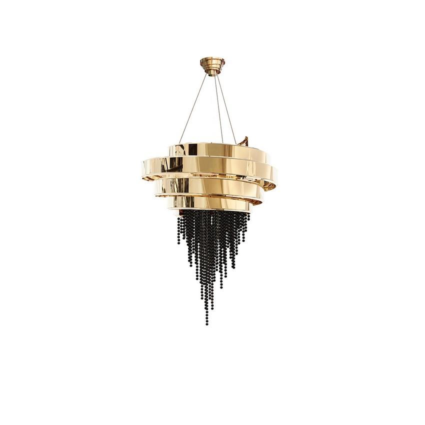 riyadh An Opulent Modern Classic Dining Room In Riyadh guggenheim chandelier luxxu 01