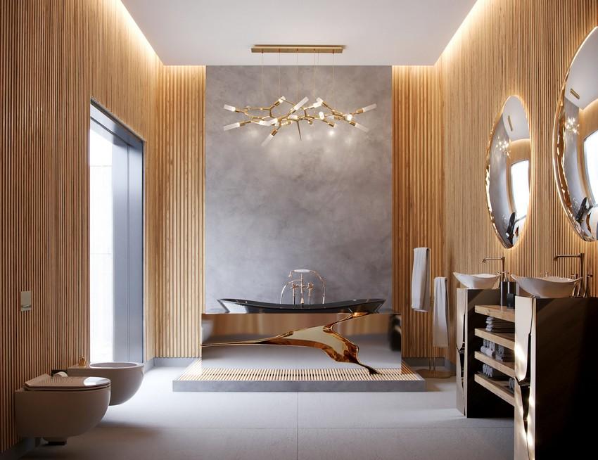 master bathroom Extravagant Contemporary Master Bathroom by Natan Argente vista 01